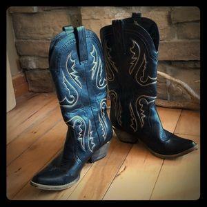 Women's Cowboy Boots Black size 8.5